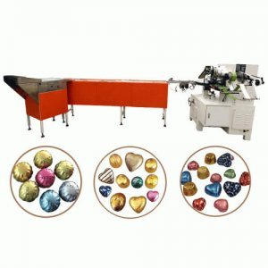 chocolate heart foil wrapping machine