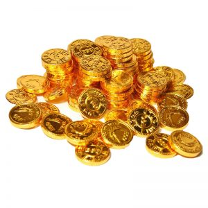 golden coin chocolate