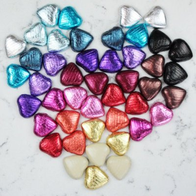 heart chocolate foil wrapping